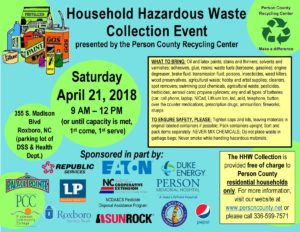 Cover photo for Household Hazardous Waste Collection Event
