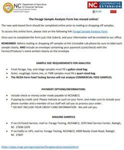 online forage sample information
