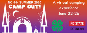 Cover photo for NC 4-H Summer CAMP OUT! 2020