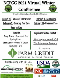 Cover photo for North Carolina Forage and Grasslands 2021 Virtual Winter Conference